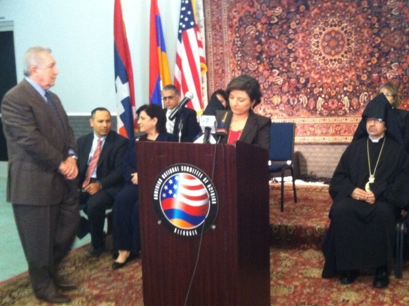 Armenian leaders in Glendale ask President Obama to display orphan rug