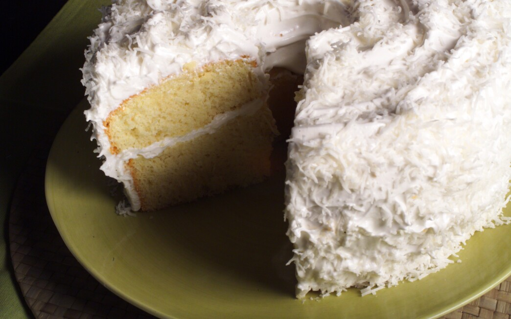 White Christmas Chiffon Cake