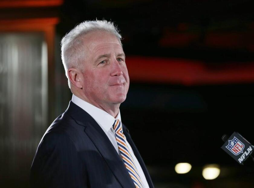 En la imagen, el entrenador en jefe de los Bears de Chicago, John Fox. EFE/Archivo