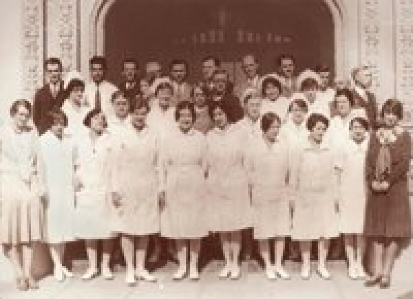 A group shot of the nurses in the 1930s