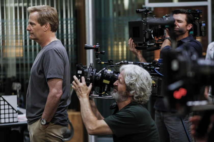 """""""The Newsroom"""" which debuted in 2012, came shortly after creator Aaron Sorkin's Oscar triumph for writing """"The Social Network"""" and boasted an enviable cast that included Jeff Daniels, pictured, Emily Mortimer and Sam Waterston."""