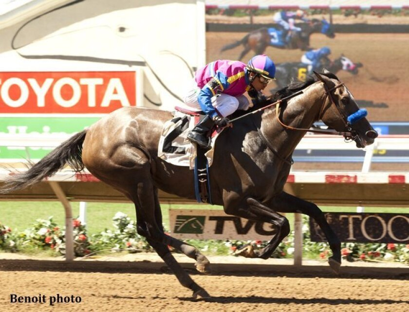 Big Book tested positive to an overage of a tranquilizer after winning the July 25 Fleet Treat Stakes and Kiss At Midnight was named the winner.