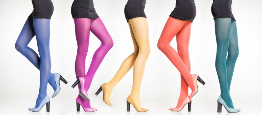 Step out of your comfort zone, and try tights in a variety of bright hues.