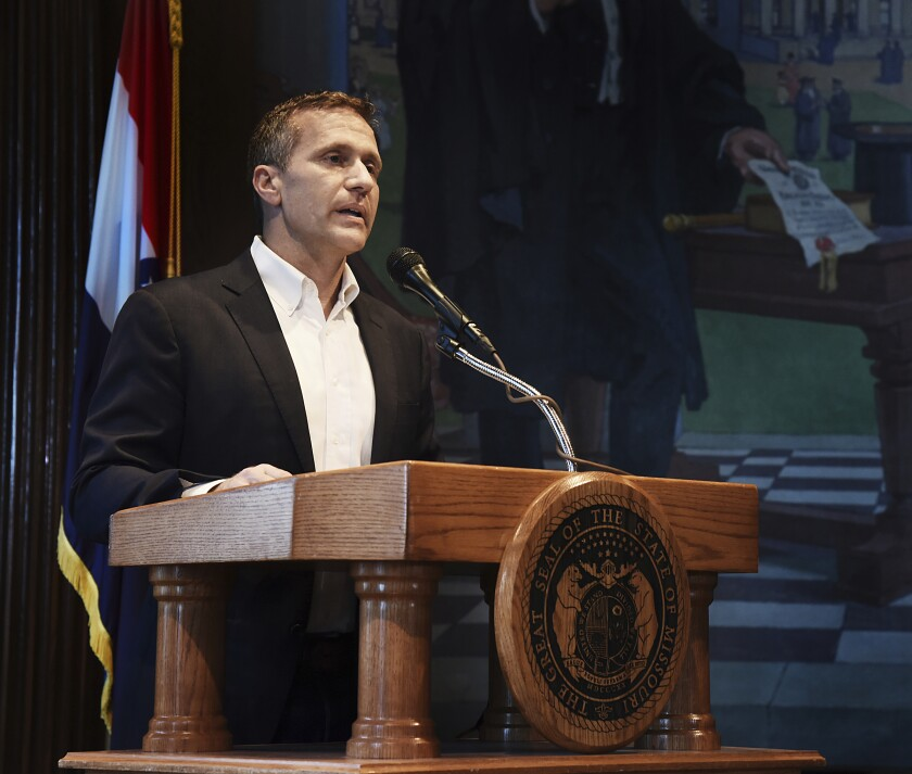 Former Missouri Gov. Eric Greitens