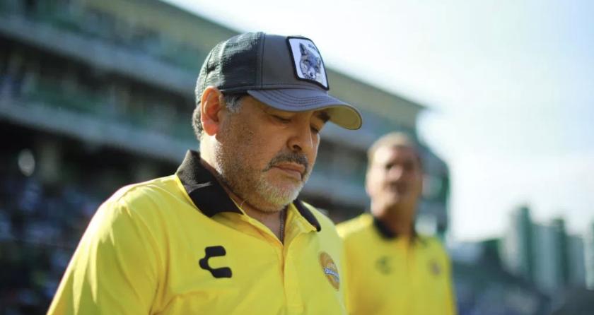 Diego Armando Maradona, actual entrenador de Dorados de Sinaloa.
