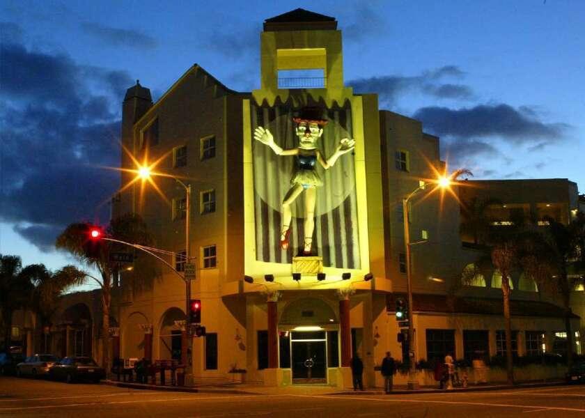 "Jonathan Borofsky's ""Ballerina Clown"" was erected in Venice in 1989."