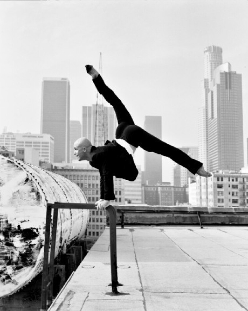 Charlie Hodges, rehearsal director for the L.A. Dance Project, is shown downtown, where the troupe will do several shows at the new Ace Hotel.