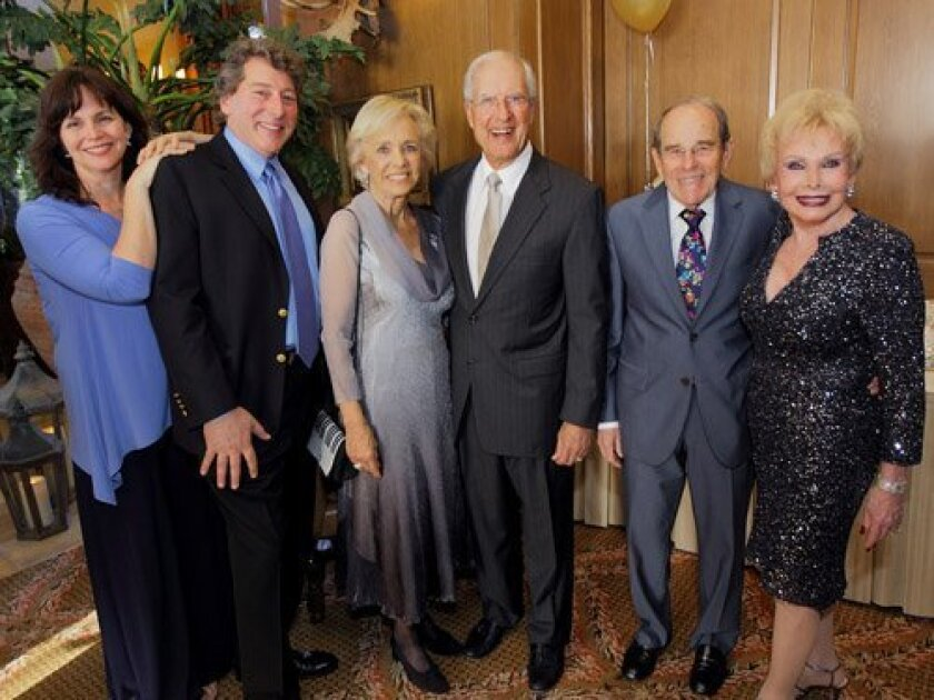 Denise Young, David Ellenstein, Sharon and Jerry Stein, Frank and Lee Goldberg