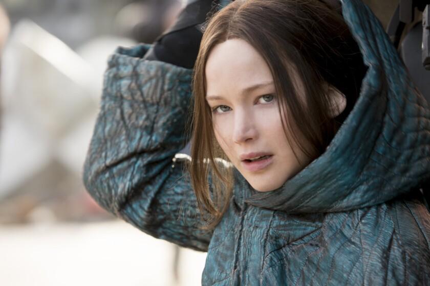 "Jennifer Lawrence stars as Katniss Everdeen in ""The Hunger Games: Mockingjay -- Part 2."""