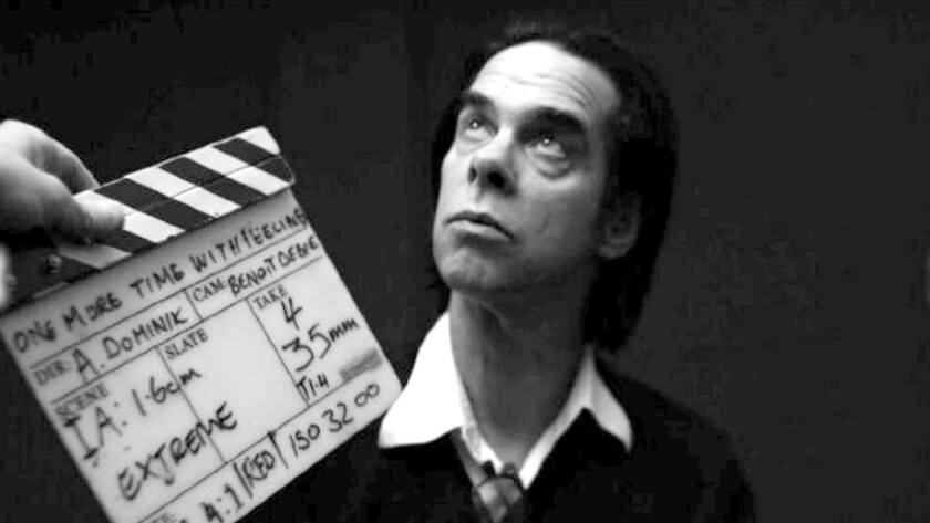 """Nick Cave in a scene from the Andrew Dominik documentary movie """"One More Time With Feeling."""""""