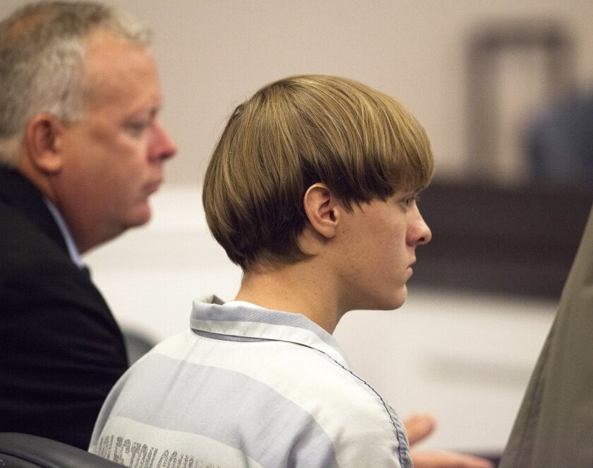 Dylann Roof, 21, listens to proceedings during a hearing on July 16 in Charleston, S.C.