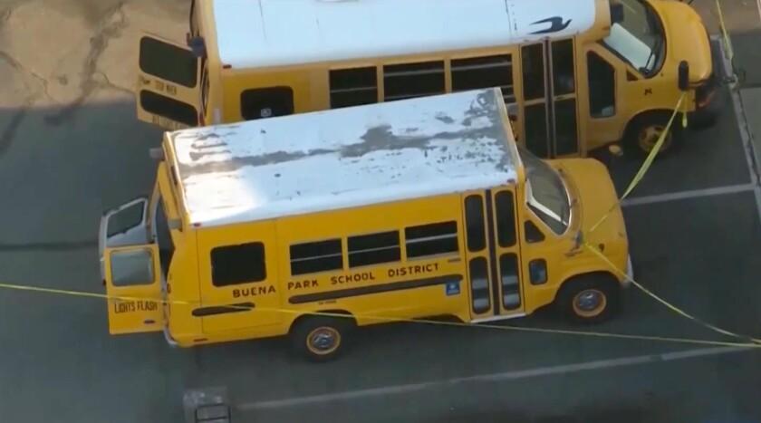 School bus in Buena Park