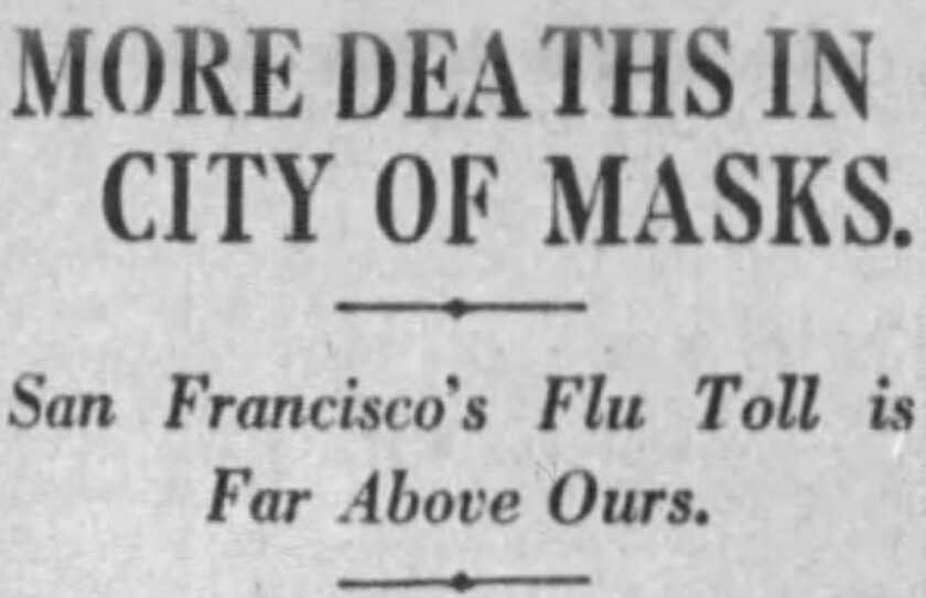 Jan. 21, 1919, Los Angeles Times headline.