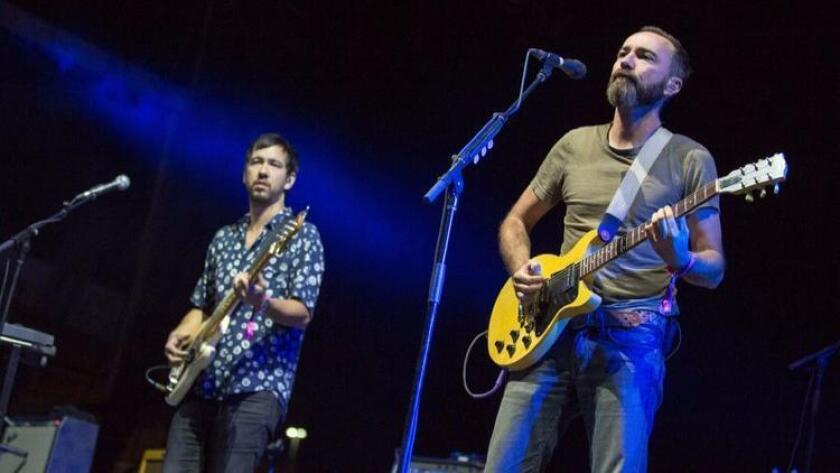 Yuuki Matthews (left) and James Mercer of The Shins perform live Sept. 23, 2016 at the Life Is Beautiful Music Festival in Las Vegas. (Photo by Daniel DeSlover/Zuma Press/TNS)