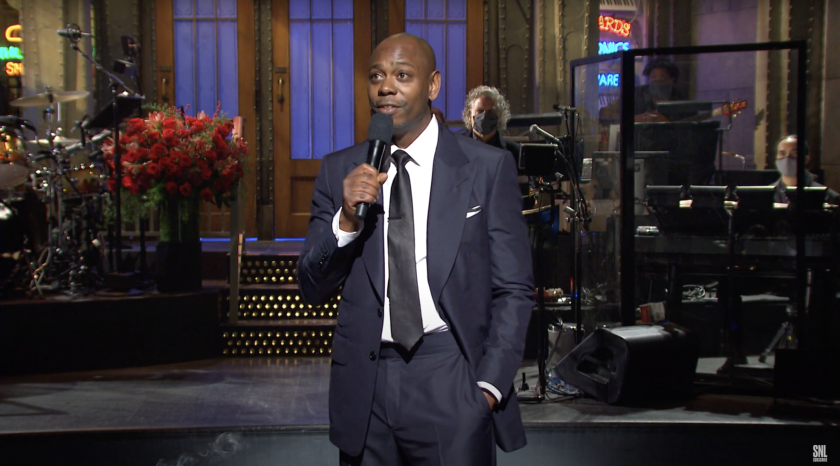 "Dave Chappelle hosts ""Saturday Night Live"" on Nov. 7."
