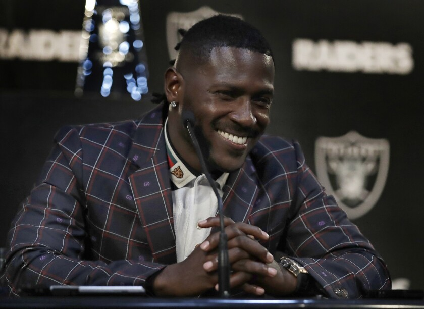 The Raiders' Antonio Brown.