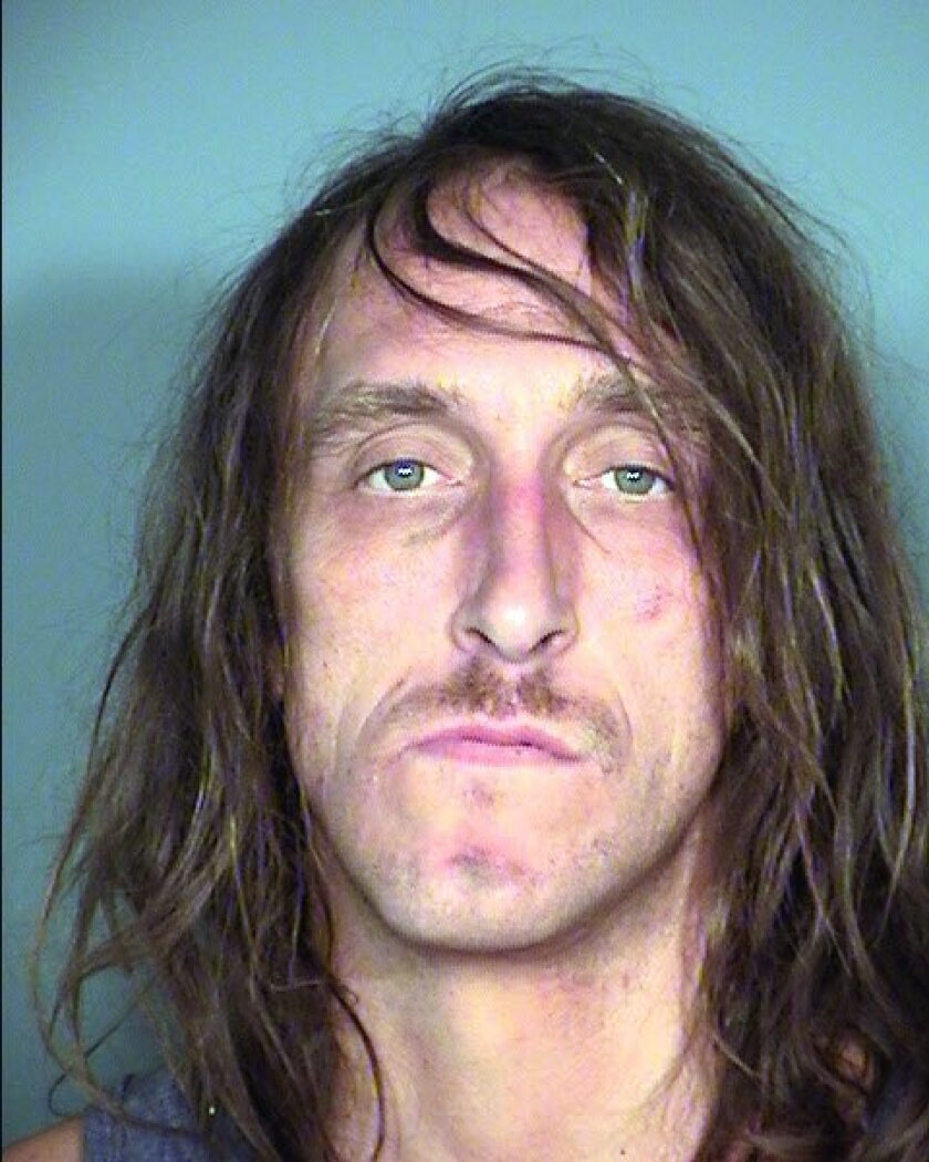 This Sept. 11, 2014 booking photo provided by Las Vegas Metropolitan Police Department shows Ryan Brown, 40, following his arrest on Sept. 10, 2014 at the Stratosphere on the Las Vegas Strip. Police say Brown faces felony cocaine possession and misdemeanor driving under the influence and reckless driving charges after crashing his pickup truck through glass entry doors at the Las Vegas Strip casino. (AP Photo/Las Vegas Metropolitan Police Department)