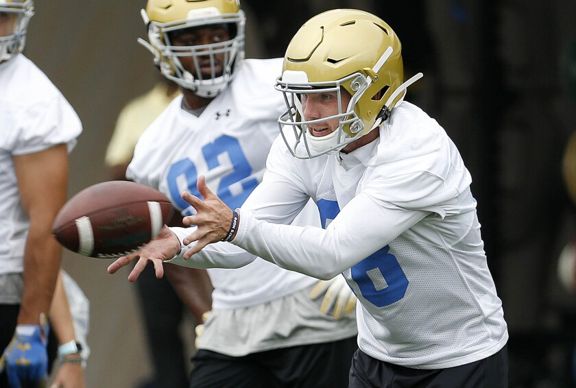 UCLA punter Wade Lees at fall camp at the football fields at the Wasserman Football Center on the campus of UCLA in  on July 31.