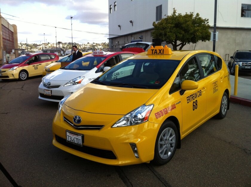 Green taxis lift off at San Diego airport - The San Diego