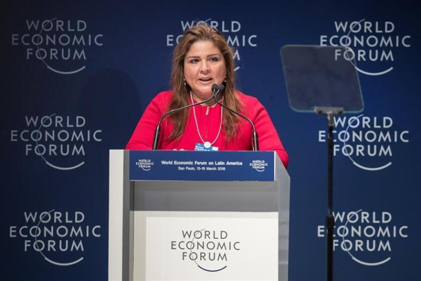 La directora del Foro Económico Mundial para Latinoamérica, Marisol Argueta de Barillas. EFE/Archivo