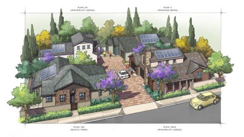 A proposed rendering of The Junipers project in Rancho Peñasquitos.