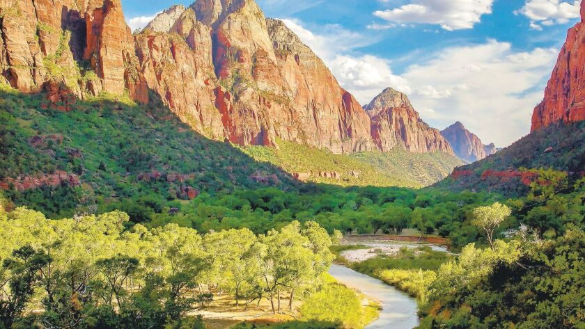 The view along the Emerald Pools Trail in Zion National Park.