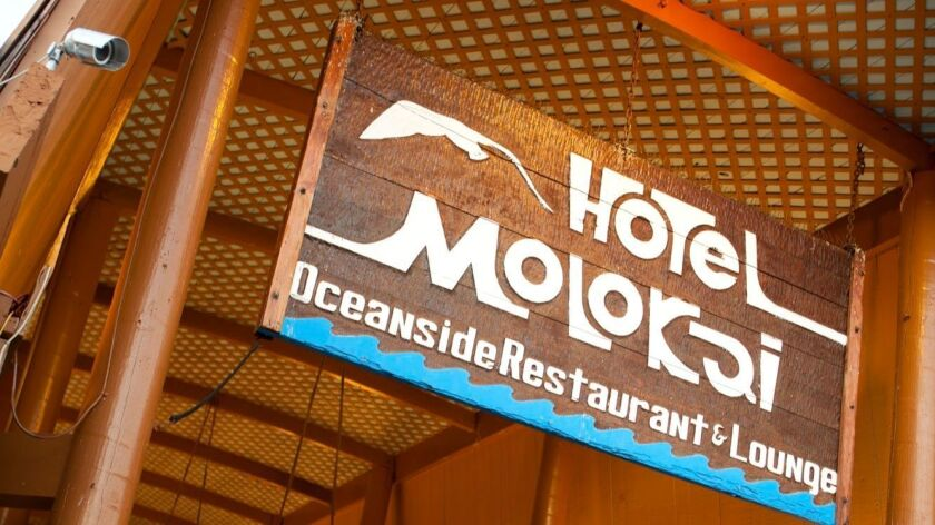 The ocean-side Hotel Molokai is the only hotel on the island.