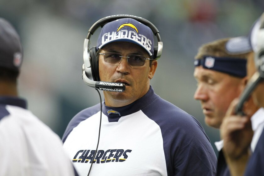 Chargers defensive coordinator Ron Rivera, who engineered the league's stingiest defense in 2010, has been a frequent head coaching candidate.