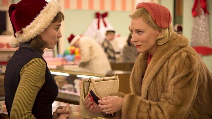 Rooney Mara and Cate Blanchett in 'Carol'
