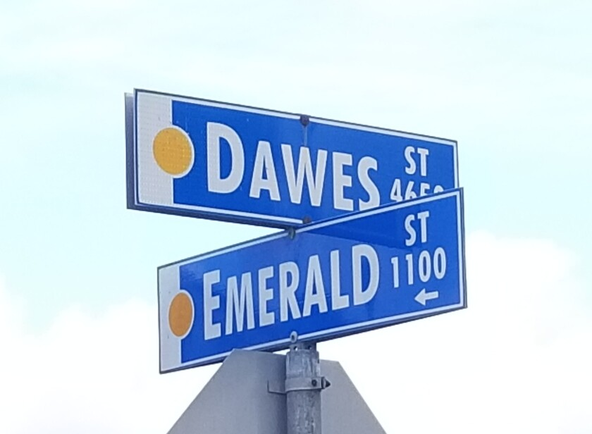 Dawes and Emerald streets