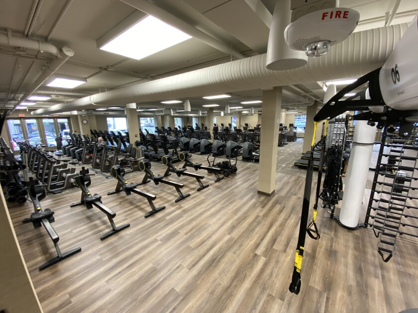 More than 200 exercise machines occupy the 46,000 square feet of Life Time Fitness, which opened on Dec. 20 in the former Brooks Brothers clothing store space at 1055 Wall St.