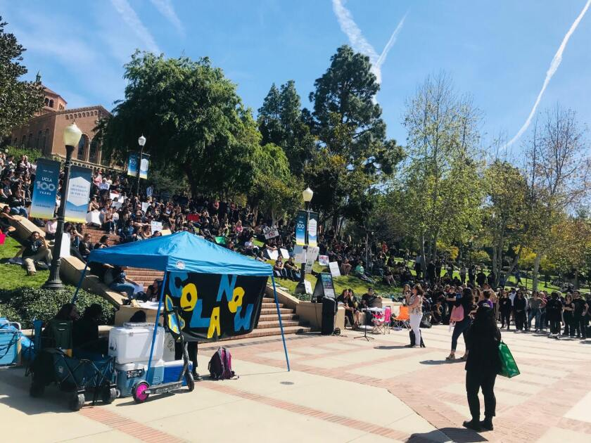 UCLA protest for cost-of-living salary increase for graduate students