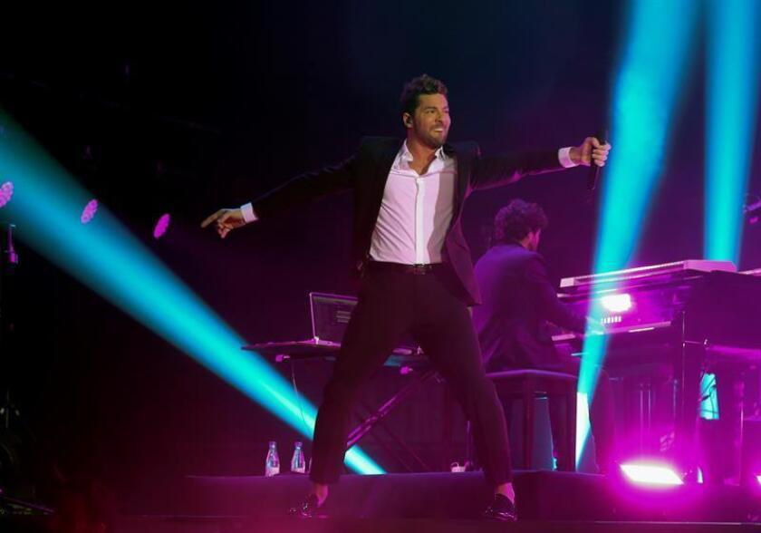 El cantante David Bisbal durante un concierto. EFE/Archivo