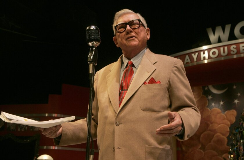 """Jonathan Dunn-Rankin in Cygnet Theatre's 2009 production of """"It's a Wonderful Life: A Live Radio Play."""""""