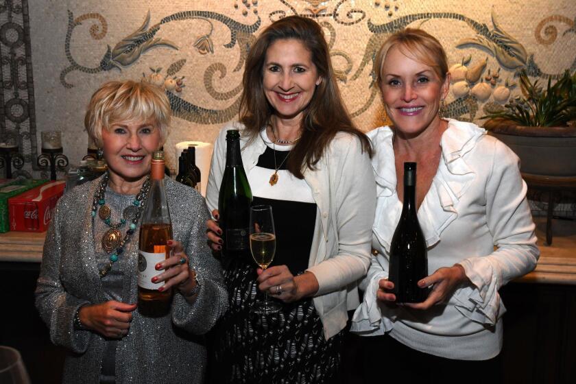 Katie Yost, Sharon Harris (RARECAT Wines owner/director of winemaking), Lisa Redmon (Redmon Wines owner)