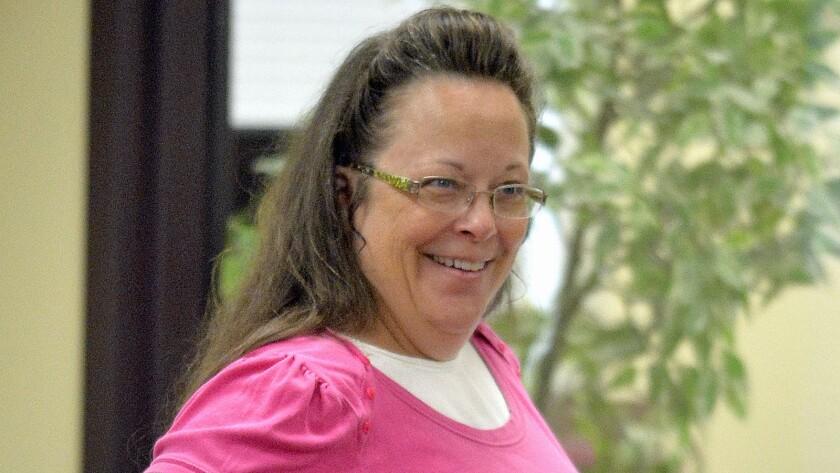 Rowan, Ky., County Clerk Kim Davis last month.