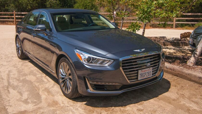 2017 Genesis G90 at Elfin Forest Recreational Preserve in Escondido.