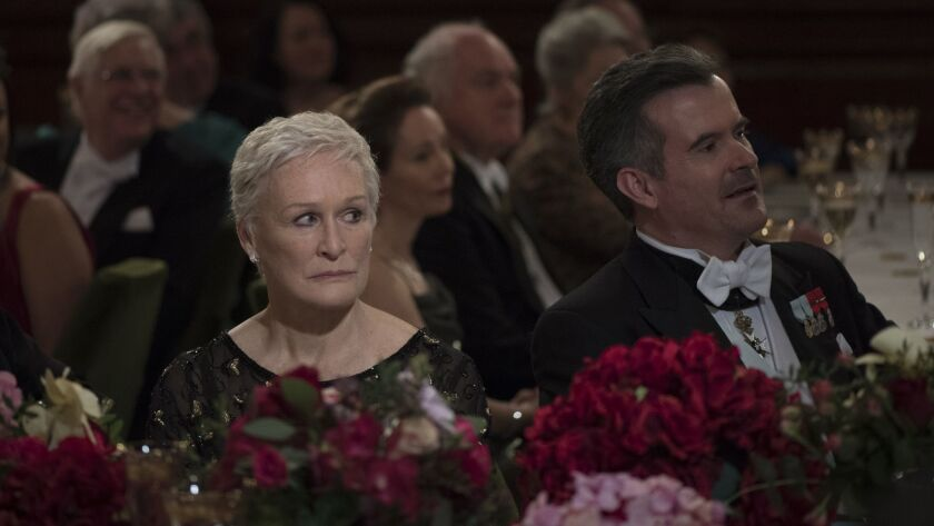 """This image released by Sony Pictures Classics shows Glenn Close in a scene from """"The Wife."""" On Thur"""