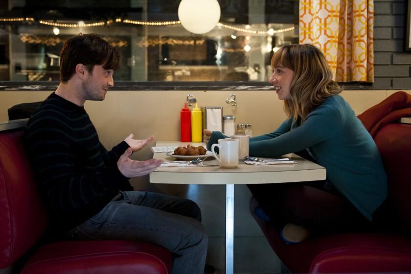 "Daniel Radcliffe and Zoe Kazan star as best friends in ""The F Word."""