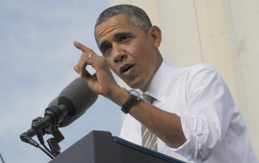 President Obama, seen above speaking at a construction company in Maryland, warned of the economic fallout of the ongoing shutdown and called on Congress to act immediately to reopen the government.