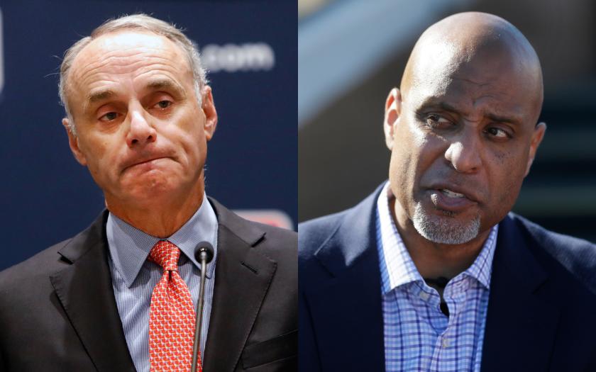 MLB Commissioner Rob Manfred and MLBPA executive director Tony Clark.