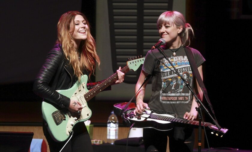 Sisters Rebecca, left, and Megan Lovell of Larkin Poe will perform Saturday as part of the San Diego Blues Festival.