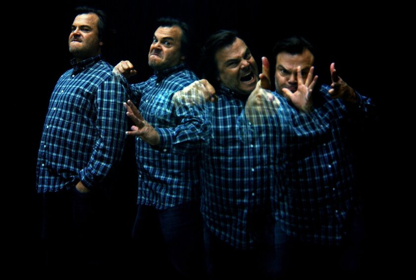 Actor-comedian-musician Jack Black in a multiple-exposure shot in Beverly Hills on April 24, 2015.
