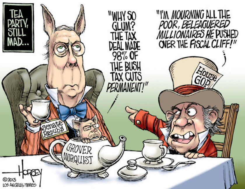"""Tea party conservatives feel betrayed by """"fiscal cliff"""" deal"""