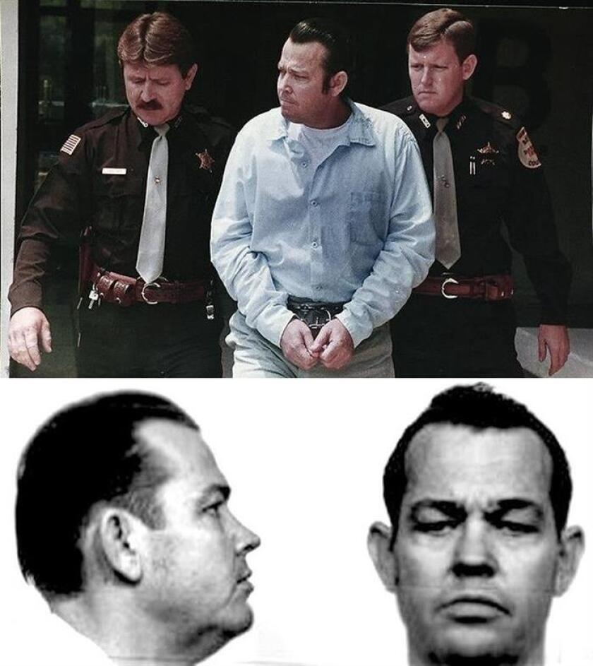 Combo de dos fotografía cedidas por la policía de Portland donde aparece Jerry Walter McFadden, nacido el 21 de marzo de 1948 y ejecutado en el estado de Texas en octubre de 1999, y que los investigadores encontraron que fue el asesino de Anna Marie Hlavka, de 20 años de edad, el pasado 24 de julio de 1979 en su apartamento en Portland, Oregón (EE.UU.). EFE/SOLO USO EDITORIAL