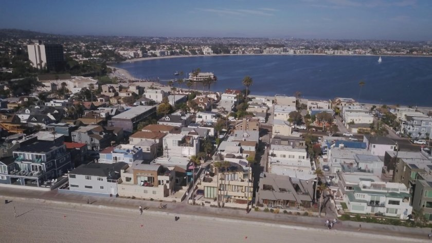 Mission Beach is among the communities with the highest concentration of short-term vacation rentals.