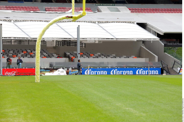 El Estadio Azteca tiene una nueva cara que lucir para el encuentro entre Raiders y Texanos, ya que desde que se conoció la noticia del evento, comenzaron los trabajos para rejuvenecer al inmueble, además de darle nueva vida.