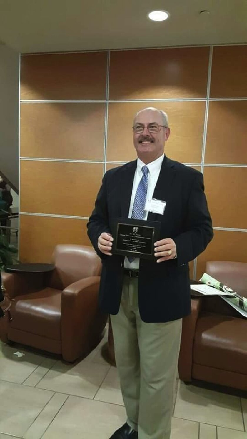 Bill Porter received the North County Consortium for Special Education's General Education Administrator of the Year for Special Education. Courtesy photo
