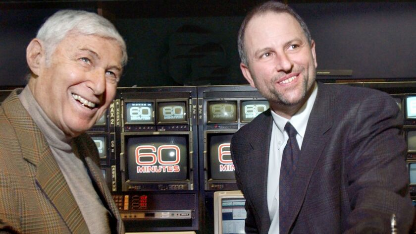 """60 Minutes"" creator Don Hewitt, left, with his successor Jeff Fager in 2004."