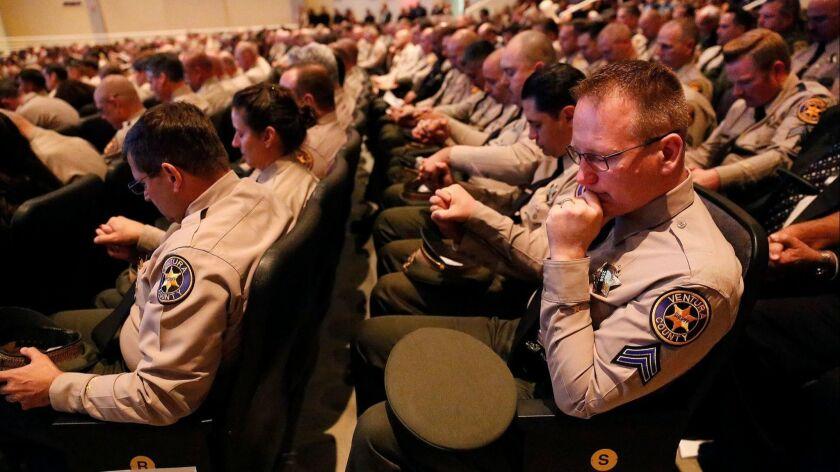 Memorial service for Sgt. Ron Helus, Westlake Village, USA - 15 Nov 2018